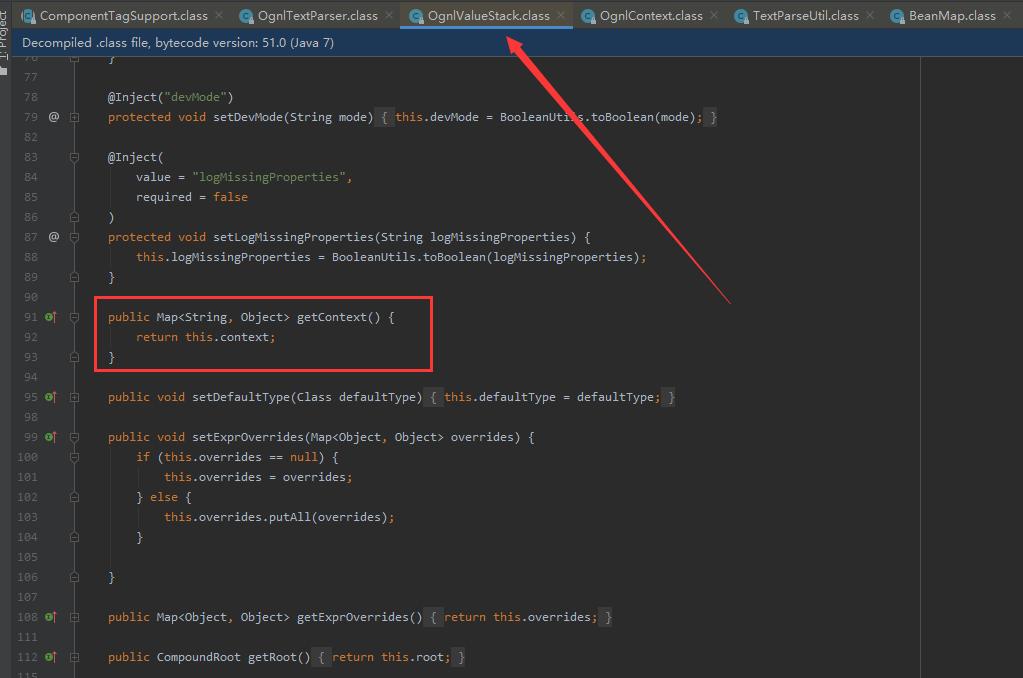 OgnlValueStack获取当前OgnlContext的方法